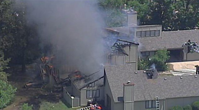 At least one of the townhomes is a total loss. (KCTV5)