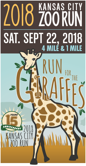 The Kansas City Zoo Run highlights a different featured species each year.   This year is the Run for the Giraffes on Saturday, Sept. 22. (Kansas City Zoo)