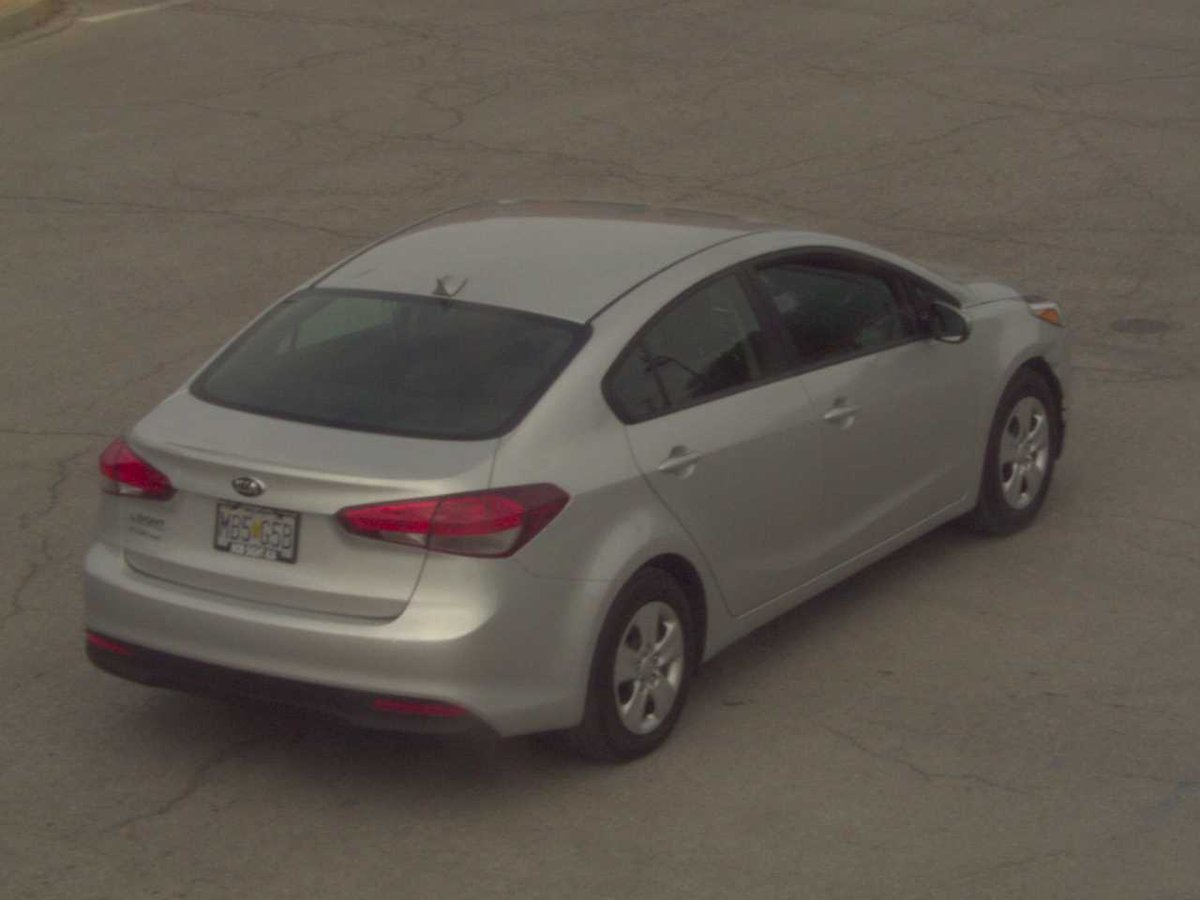 "The suspected vehicle is a 2017 Kia Forte with a Missouri license plate is ""MB5-G5B."" (KCTV5)"