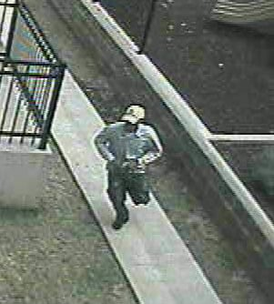 Surveillance picture of suspect in shooting