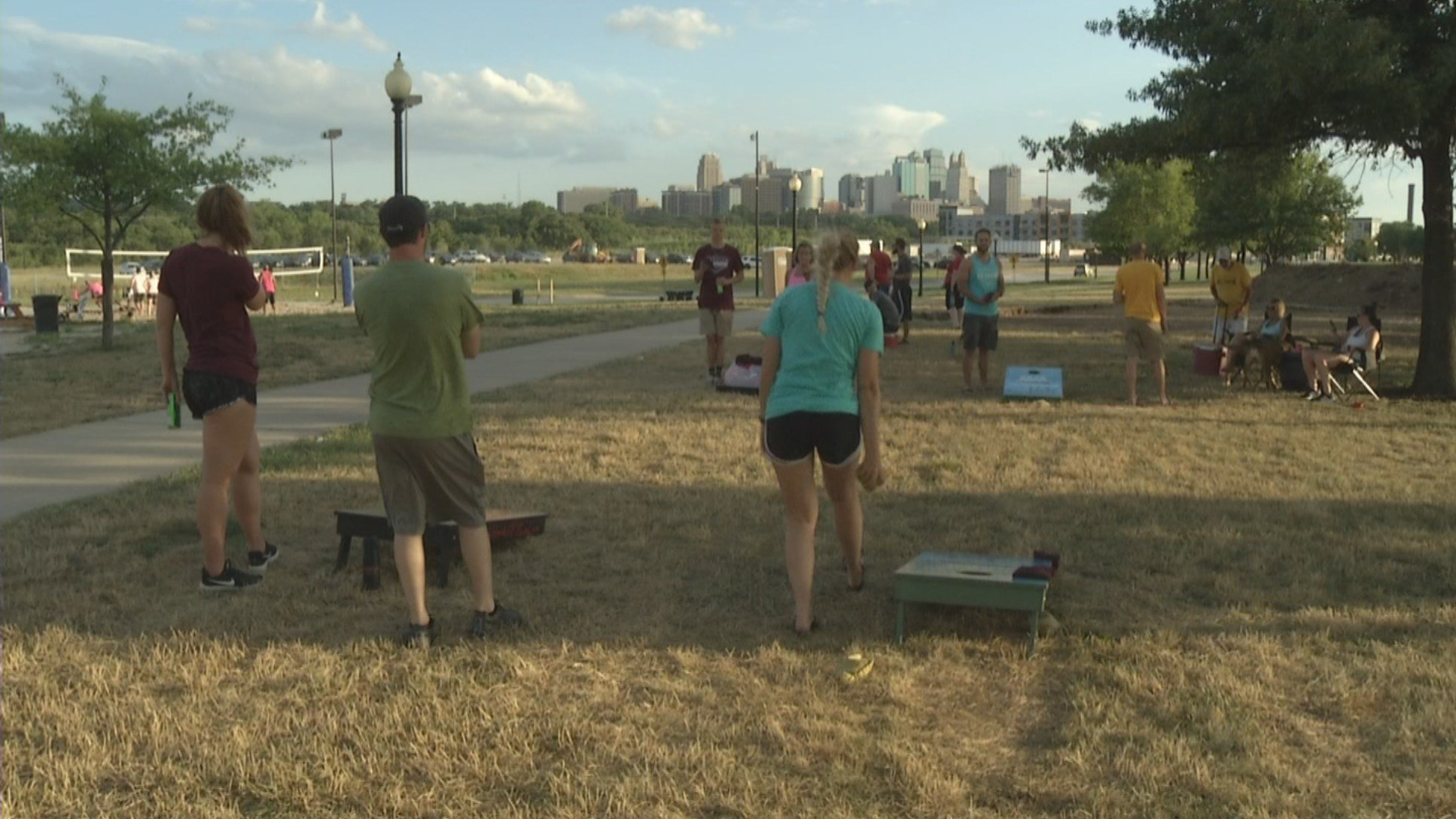 Cornhole, the popular backyard picnic game that you've likely played, is seeing a huge surge in popularity in Kansas City. (KCTV5)