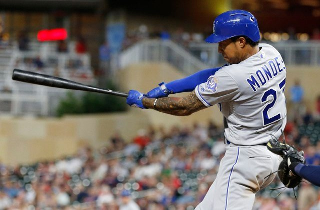 The Royals scored more than five runs for the first time since June 4 and improved to 26-65 overall, percentage points ahead of Baltimore to avoid owning baseball's worst record. (AP)