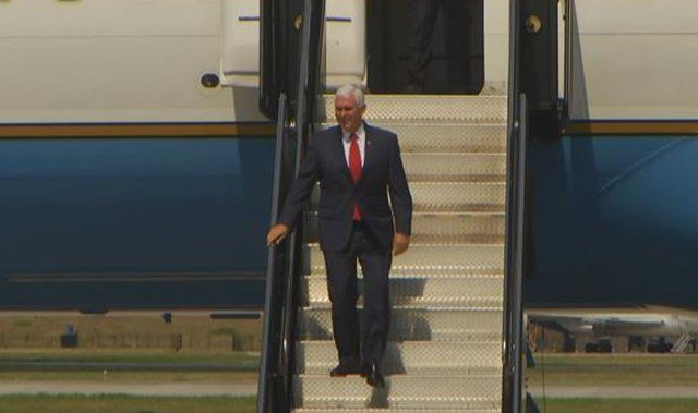 Pence's visit will be centered around promoting President Donald Trump's tax plan and helping Kansas Republican Congressman Kevin Yoder fundraise for the upcoming midterm election. (KCTV5)