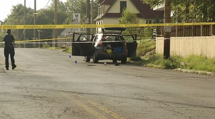 The scene where the shooting happened. (KCTV)