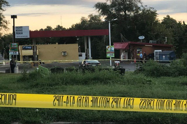 The shooting happened before 4:50 a.m. inside a gas station in the 5900 block of Swope Parkway. (KCTV5)