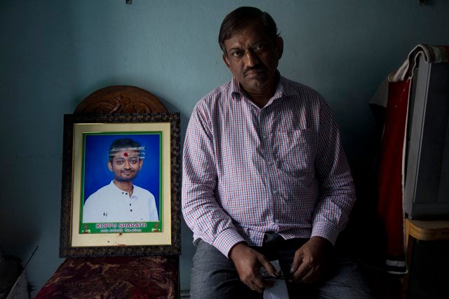 Koppu's father, Koppu Ram Mohan, told reporters in Hyderabad, India, that his son had already quit his part-time job at the restaurant and was working his last shift when he was killed. (AP)