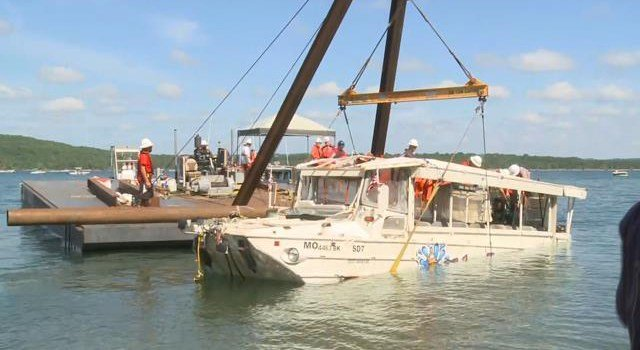 Thirty-one people were on the duck boat when it capsized on choppy waters during a storm. (KCTV5)