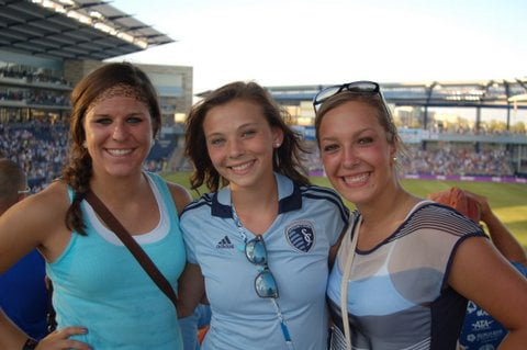 Kori Quinn and friends at a Sporting KC game, Courtesy: Quinn family