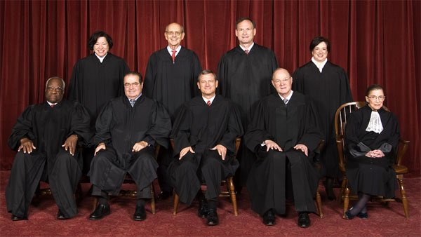 The Supreme Court Justices pose for a picture in 2010. (Source: Steve Petteway/Collection of the Supreme Court of the United States/The Oyez Project)