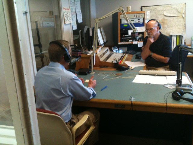 Rep. Todd Akin talks on KFEQ 680 AM radio       - Josh Collins/KCTV