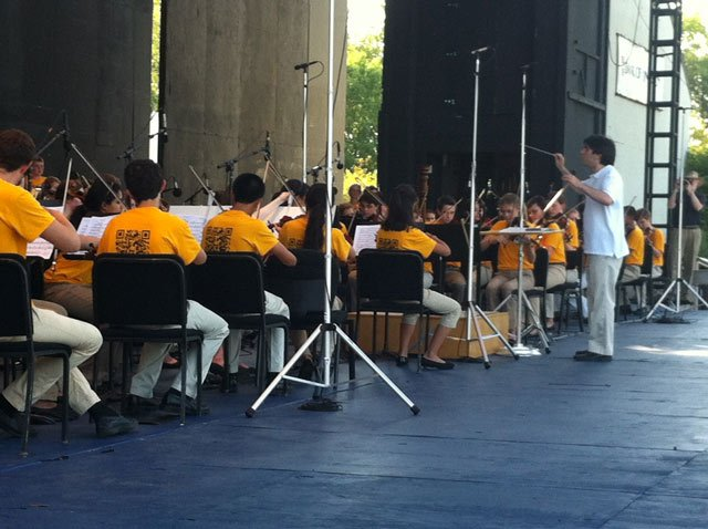 Youth Symphony of Kansas City warming up.  - Justin Schmidt/KCTV