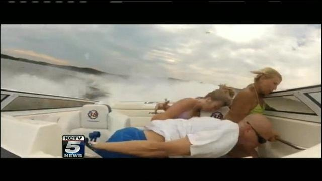 Boaters flung around boat at Lake of the Ozarks