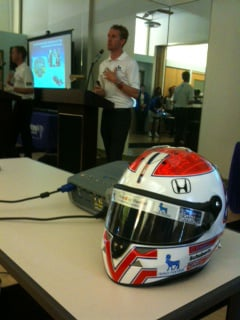 IndyCar driver Charlie Kimball talks diabetes awareness in KC. - Courtesy: Alan Shope