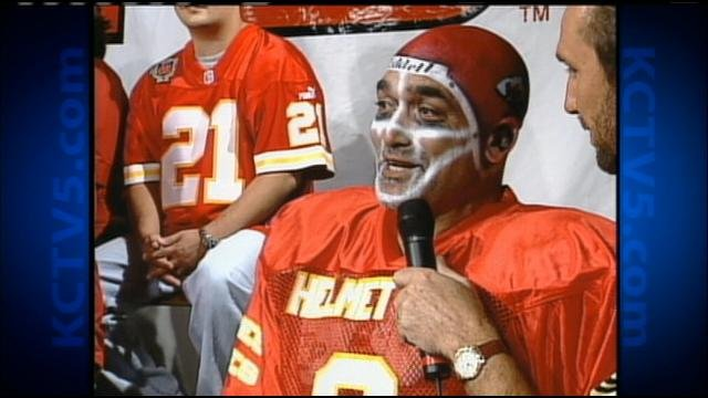 © Wahed Moharam as Helmet Man on KCTV5's Locker Room Show