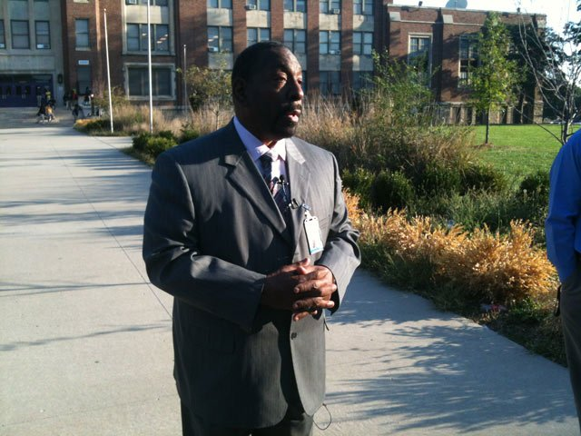 Dr. Green outside of AC Prep. Courtesy: Chuck Prewitt/KCTV