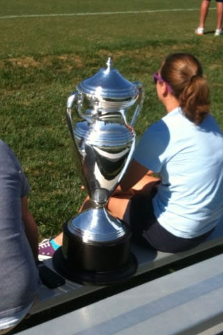 Emily Ritter spending the day with the Open Cup.    Courtesy: Alan Shope/KCTV