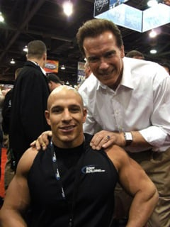 Nick Scott with Arnold Schwarzenegger