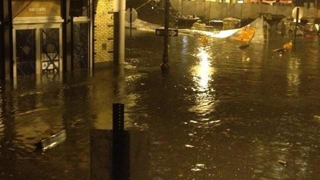 Flooding in Greenpoint, Brooklyn