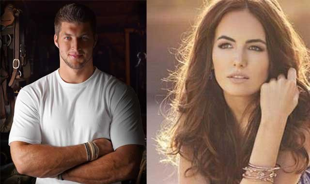 © Jets quarterback Tim Tebow and actress Camilla Belle (Tim Tebow.com/Facebook)