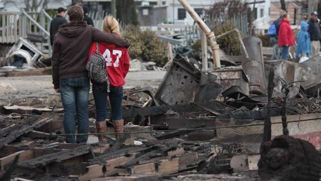 © Many residents in the Breezy Point section of Queens have nothing left. Image Credit: Effie Nidam/CNN