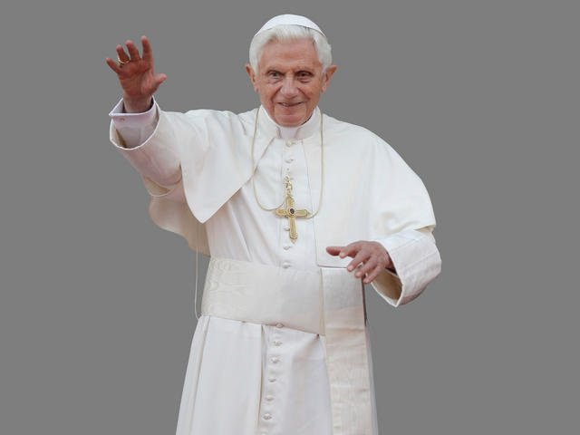 © Pope Benedict XVI waving during a meeting at Revolution Palace in Havana, Cuba. Courtesy: AP