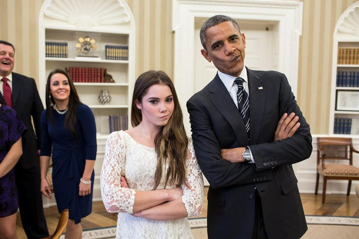 @McKaylaMaroney Did I just do the Not Impressed face with the President..? // Yes