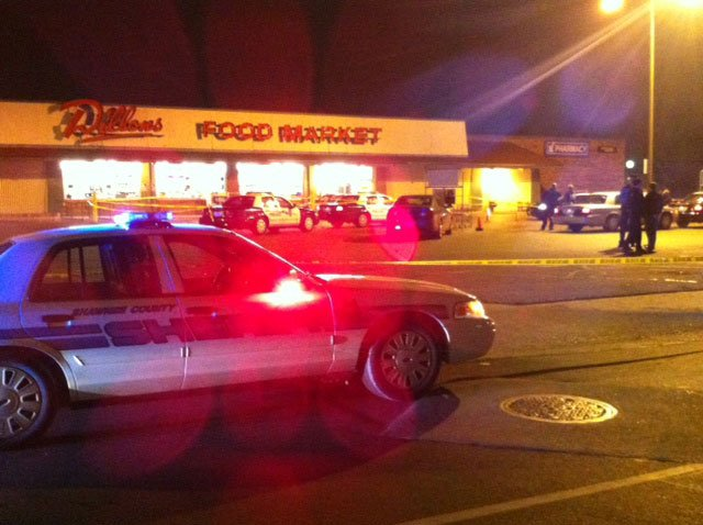 The officers were responding to a report of a suspicious vehicle about 6:10 p.m. outside the Dillons grocery store located at Southwest Huntoon and Southwest Lane streets.