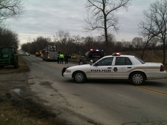 Leavenworth Road deadly wreck scene