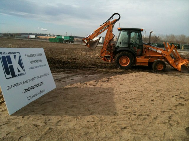 General Motors broke ground and began construction Tuesday on their new $600 million paint shop and other upgrades at its assembly plant in KCK.