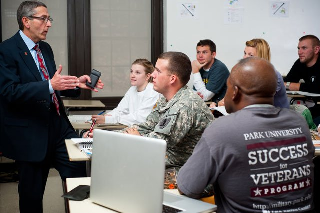 Nearly 8,000 students at Park University's campuses across the country are service men and women fulfill their dreams of a higher education while serving their country. (Photo courtesy: Park University)