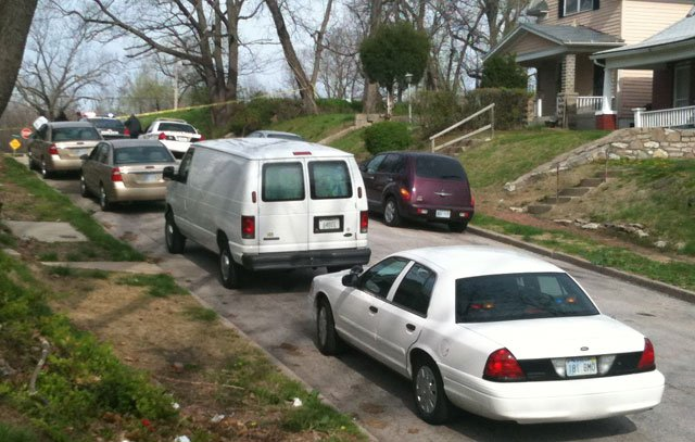 Authorities said the apparent gunshot victim was found just after 8 a.m. near North Seventh Street and Stewart Avenue.  (Edwin Watson/KCTV5)