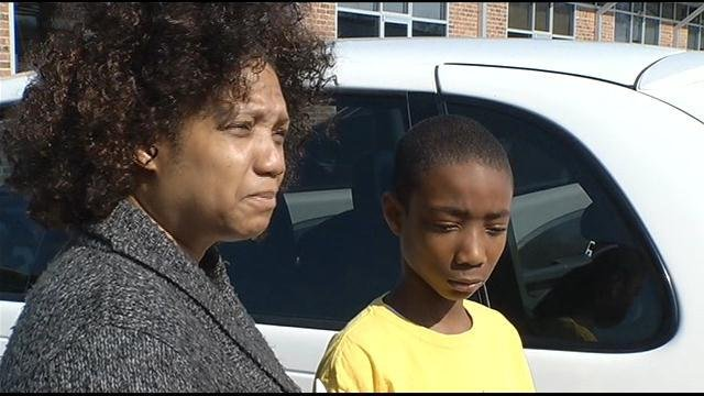Authorities said Carmenita Smith-Maynard stopped at the Snack Pak at North 18th Street and Parallel Parkway for gas. Her son and her niece were in the car while she ran in to pay for gas.