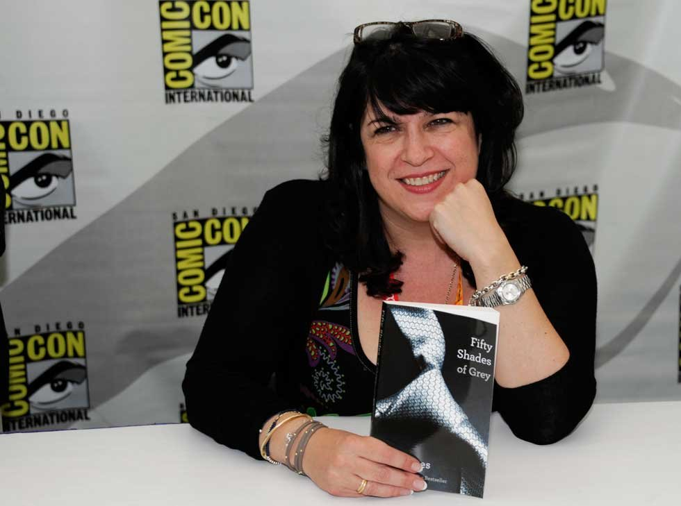 EL James at a signing in 2012 via AP