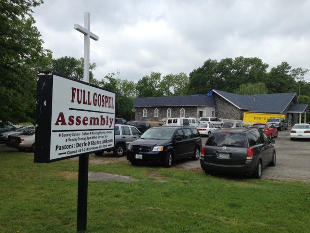 Church services will go on as scheduled Sunday, a week after the roof blew off the Full Gospel Assembly during a storm.