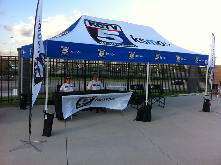 KCTV5's tent at Sporting Park.