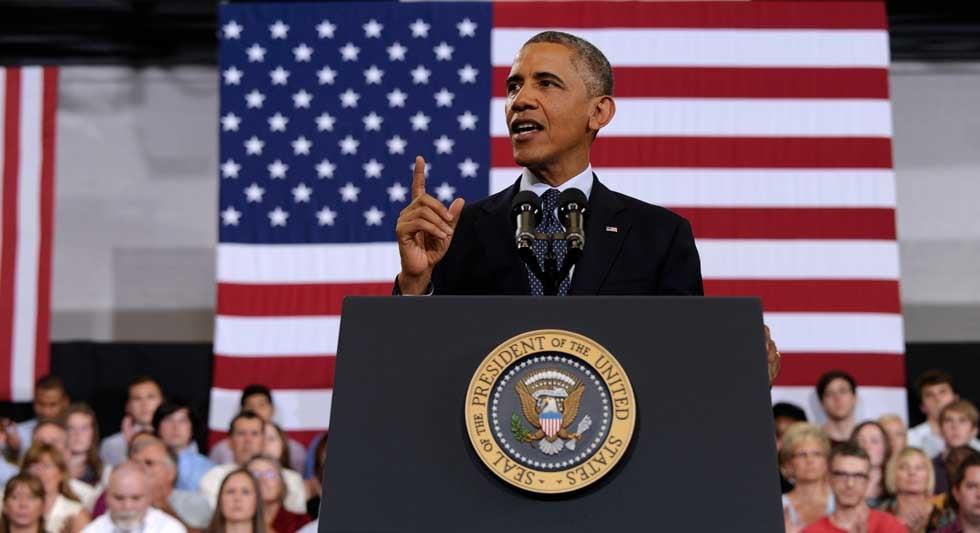 © Associated Press/President Barack Obama in Illinois on July 24