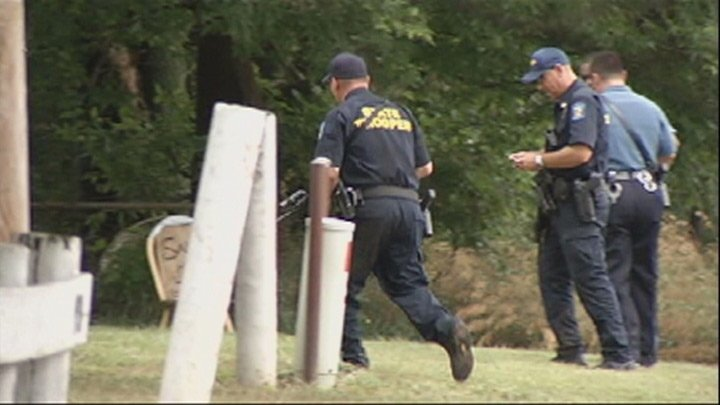 Authorities searching along U.S. Highway 69 near Louisburg, KS, for suspect in home invasion.