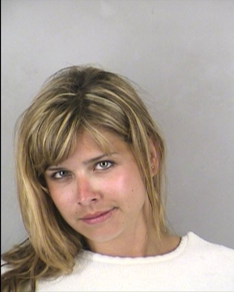 Jessica McCoy, 25, of Des Moines, Iowa, has been charged with trespassing, resisting arrest and solicitation.
