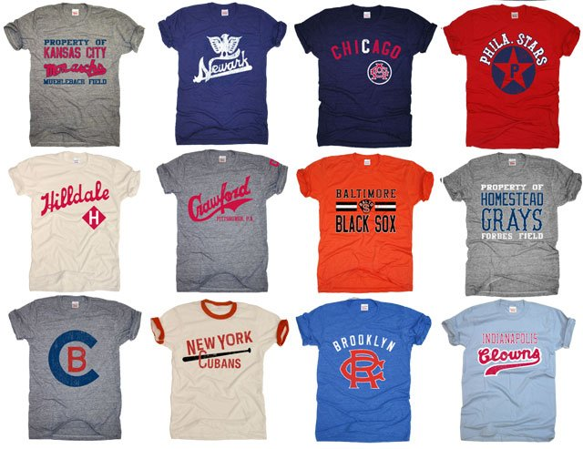 Vintage t shirt company brings negro league to new for Vintage t shirt company