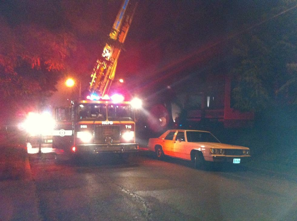 The fire started about 1:30 a.m. near Thompson and Indiana avenues.