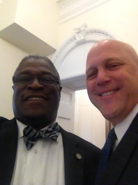 @MayorSlyJames: Selfie of me and Mayor Mitch Landrieu of N.O. Great guy and Mayor @MitchLandrieu.