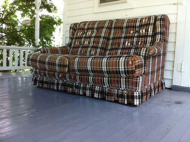 The Lawrence City Commission on Tuesday passed a citywide ban on upholstered furniture on porches, decks and patios. (Brett Hacker/KCTV5)