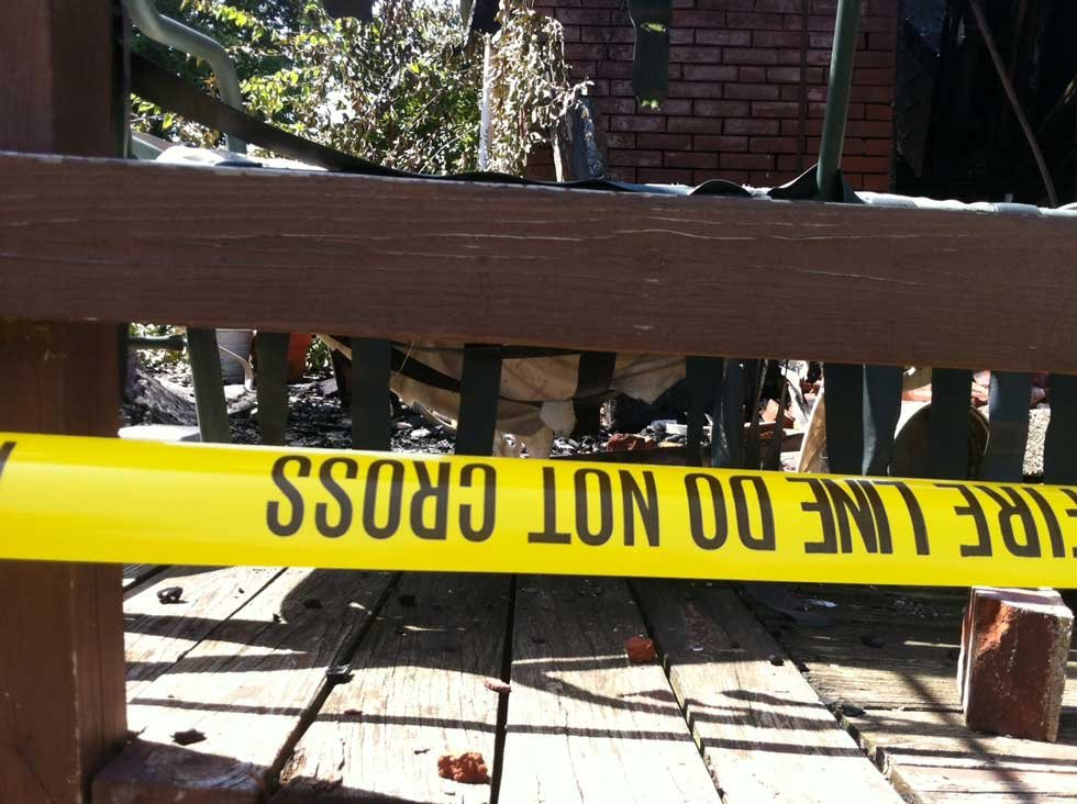 Justin Schmidt/KCTV5 Picture of burned home