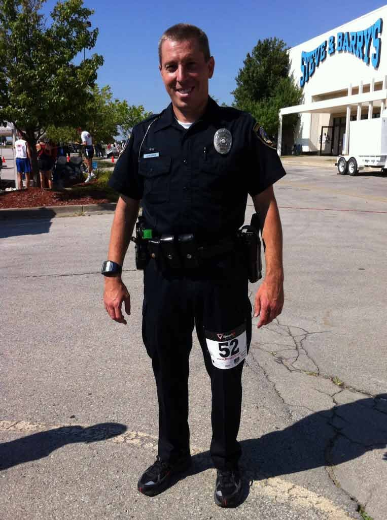 Lenexa Police Officer Bob Schluben is one of many running in Wednesday's Patriots' Run.