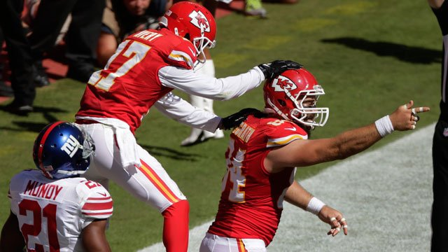 The Chiefs pounded the New York Giants 31-7 on Sunday to keep their perfect record intact, though they didn't come out of it unscathed. (Associated Press)