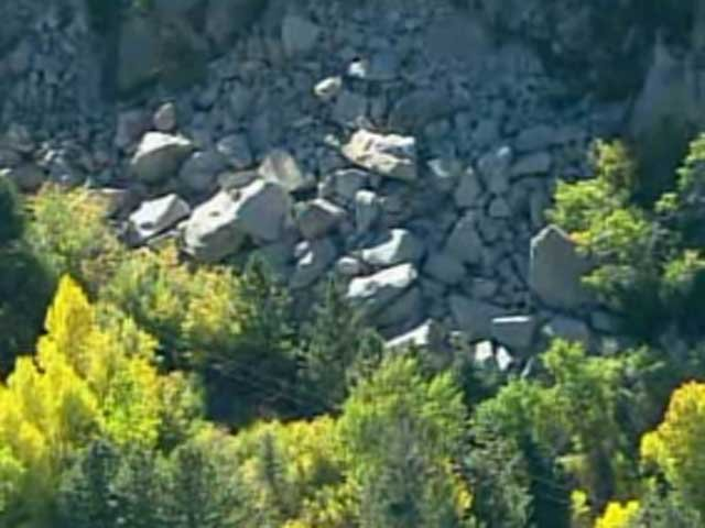 Rock slide in Colorado (CNN)