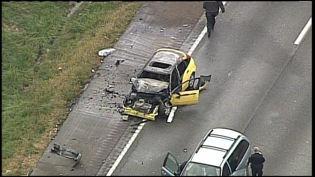 Crash on I-70 near Noland Road