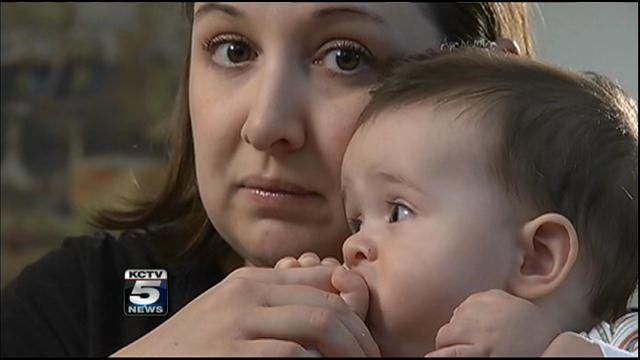 Laura Trickle, of Lee's Summit, she had no other choice but to bring her 7-month-old son, Axel, to jury duty last month.