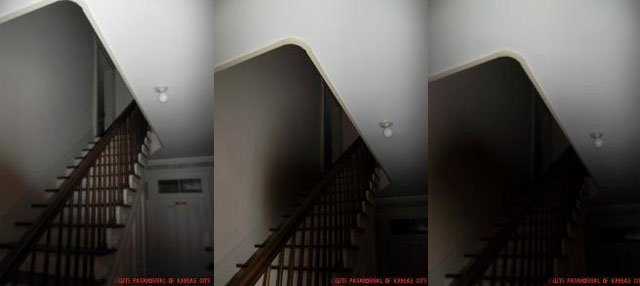 Paranormal investigators caught the unexplainable on camera near the back stairs of the home.