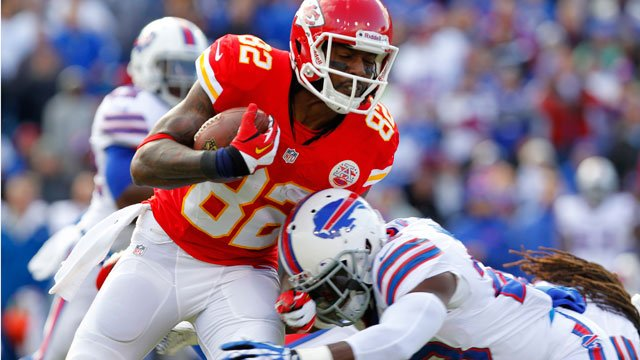 The Chiefs met to review video of Sunday's 23-13 win over Buffalo on Monday before scattering for their bye. While players are enjoying some time off, the coaches plan to begin preparation for a high-profile showdown with AFC West rival Denver. (AP, File)